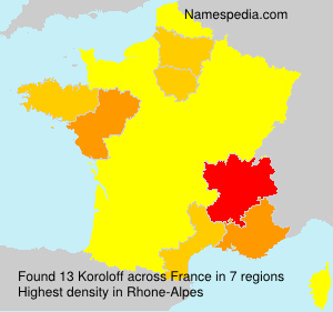 Surname Koroloff in France