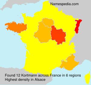 Familiennamen Kortmann - France