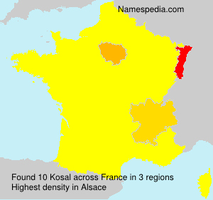 Surname Kosal in France
