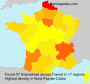 Surname Koscielniak in France