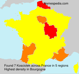Surname Kosciolek in France