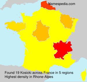 Surname Kosicki in France