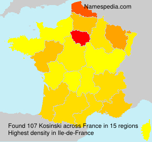 Surname Kosinski in France