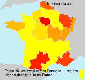 Surname Koslowski in France