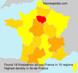 Familiennamen Kostadinov - France
