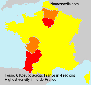 Surname Kosutic in France