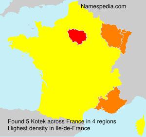 Familiennamen Kotek - France