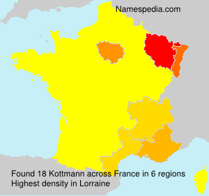Surname Kottmann in France
