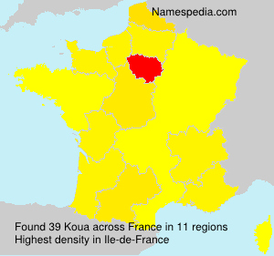Surname Koua in France