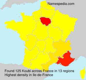 Familiennamen Koubi - France
