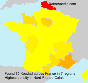 Surname Koudad in France