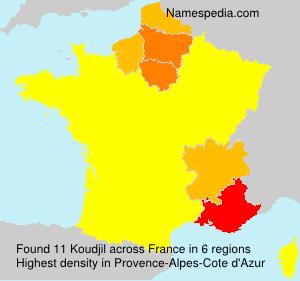 Surname Koudjil in France