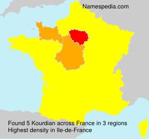 Surname Kourdian in France