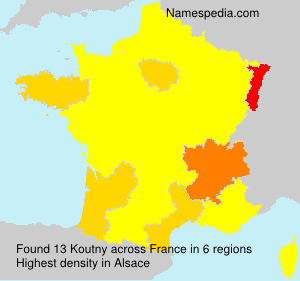 Surname Koutny in France