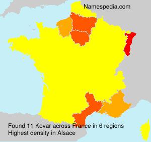 Surname Kovar in France