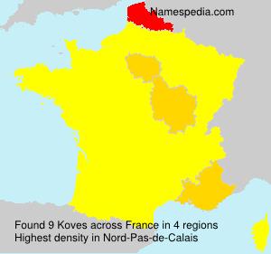 Familiennamen Koves - France