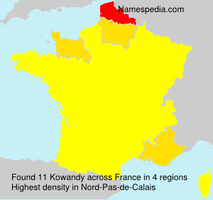 Surname Kowandy in France