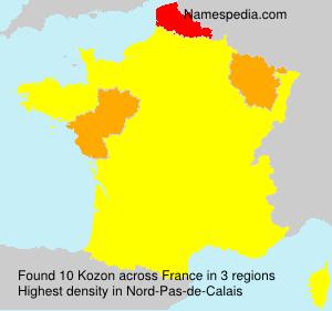 Familiennamen Kozon - France