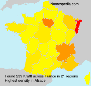 Surname Krafft in France