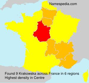Familiennamen Krakowska - France