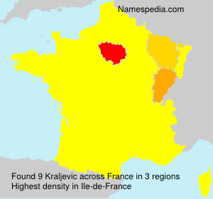 Surname Kraljevic in France
