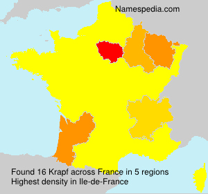 Surname Krapf in France