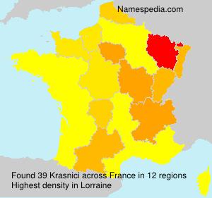 Surname Krasnici in France