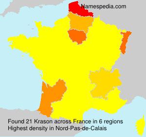 Surname Krason in France