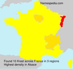 Surname Krast in France
