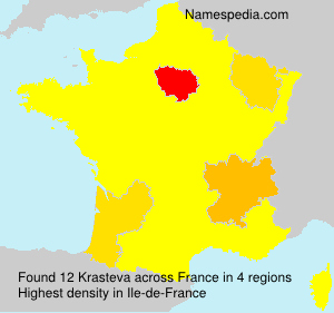 Surname Krasteva in France