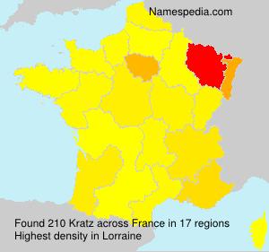 Familiennamen Kratz - France