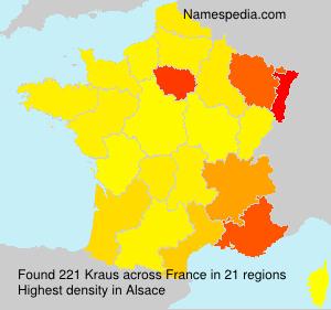 Familiennamen Kraus - France