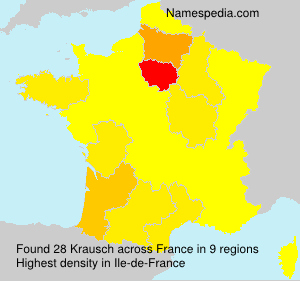 Surname Krausch in France