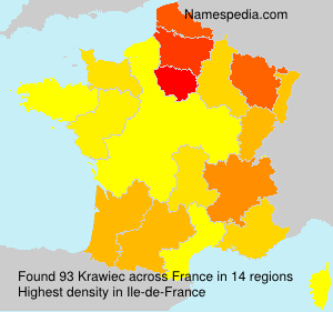 Surname Krawiec in France