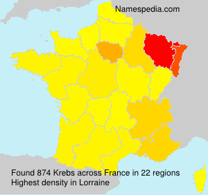 Surname Krebs in France