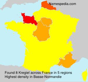 Familiennamen Kregiel - France
