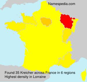 Surname Kreicher in France