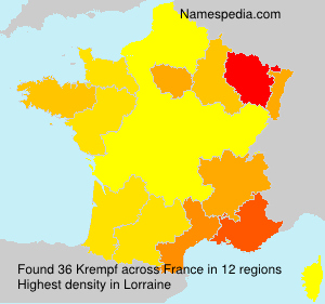 Surname Krempf in France