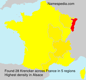 Surname Krencker in France