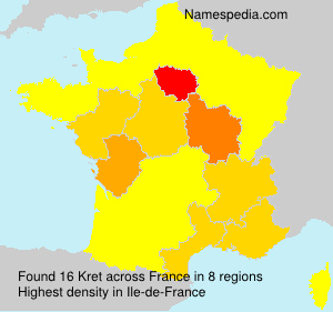 Familiennamen Kret - France