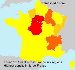 Surname Krezel in France