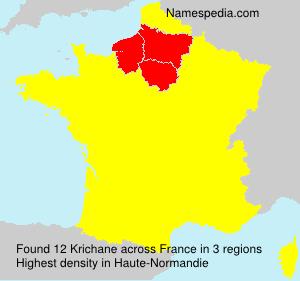 Surname Krichane in France