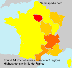 Surname Krichel in France