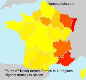Surname Kritter in France