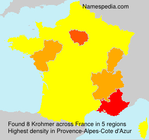 Surname Krohmer in France