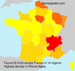 Familiennamen Kroll - France