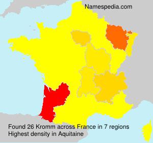Familiennamen Kromm - France