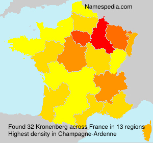 Surname Kronenberg in France