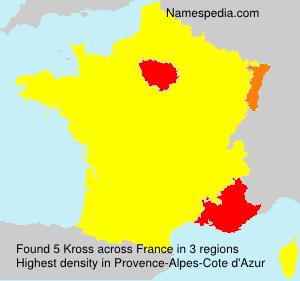 Surname Kross in France