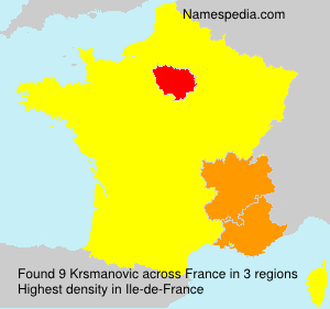 Surname Krsmanovic in France